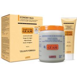 GUAM Fanghi d'Alga - Антицеллюлитная маска из водорослей, 1 кг + гель 250 мл